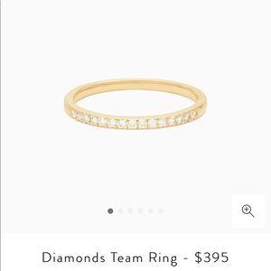 Mejuri 14k gold diamond ring